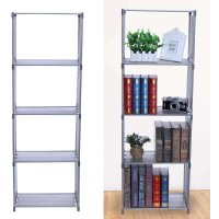 2 3 4 Tiers Bookshelf Bookcase  Shelves Bedroom Storage Solution Display